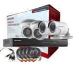 Hikvision CCTV 4 Cameras + DVR Kit 1080p 2MP